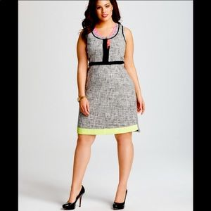 T Tahari Jessie Sleeveless Tweed Dress
